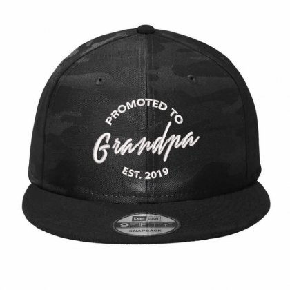 Promoted To Grandpa Embroidered Camo Snapback Designed By Madhatter