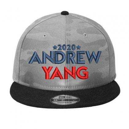 Andrew Yang 2020 Embroidered Hat Camo Snapback Designed By Madhatter
