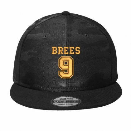 Brees 9 Embroidered Hat Camo Snapback Designed By Madhatter