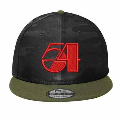 Fifity Four Embroidered Hat Camo Snapback Designed By Madhatter