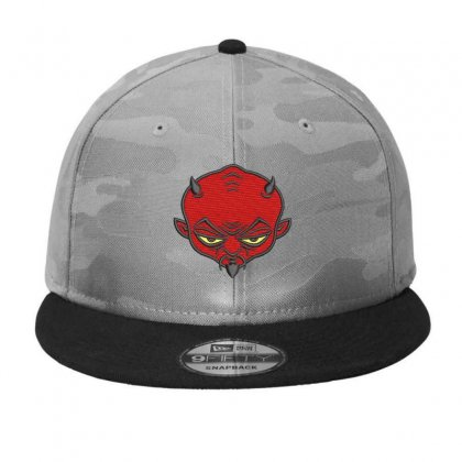Devıl Embroidered Camo Snapback Designed By Madhatter