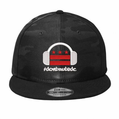 Dont Mute Embroidered Camo Snapback Designed By Madhatter