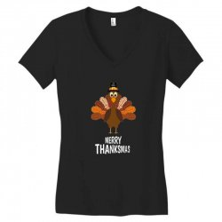 thanksgiving merry thanksmas Women's V-Neck T-Shirt | Artistshot