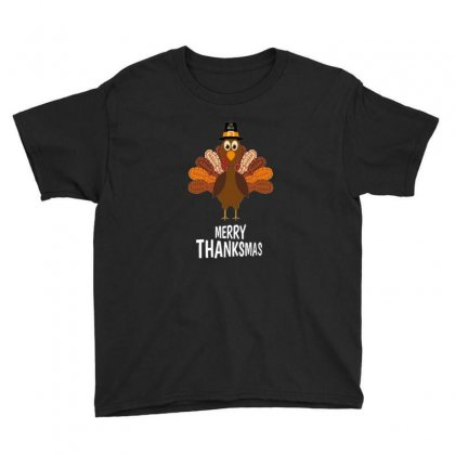 Thanksgiving Merry Thanksmas Youth Tee Designed By Platinumshop