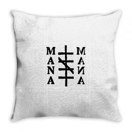 Mana Band Logo Throw Pillow Designed By Oktaviany