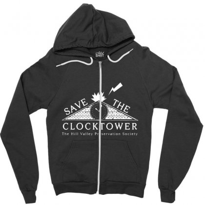 Save The Clock Tower Merch Zipper Hoodie Designed By Oktaviany