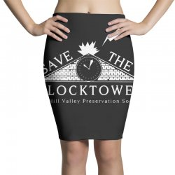 save the clock tower merch Pencil Skirts | Artistshot
