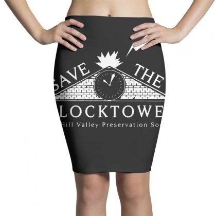 Save The Clock Tower Merch Pencil Skirts Designed By Oktaviany