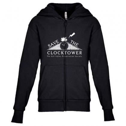 Save The Clock Tower Merch Youth Zipper Hoodie Designed By Oktaviany