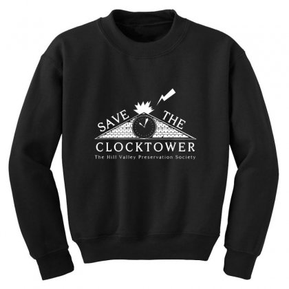 Save The Clock Tower Merch Youth Sweatshirt Designed By Oktaviany