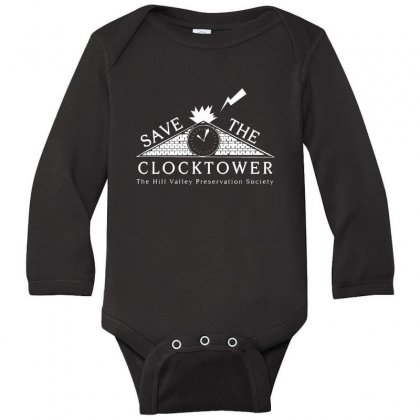 Save The Clock Tower Merch Long Sleeve Baby Bodysuit Designed By Oktaviany