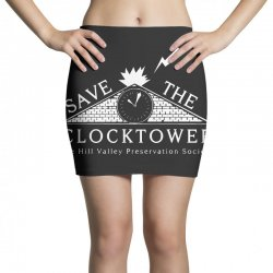 save the clock tower merch Mini Skirts | Artistshot