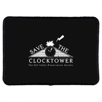 Save The Clock Tower Merch Rectangle Patch Designed By Oktaviany