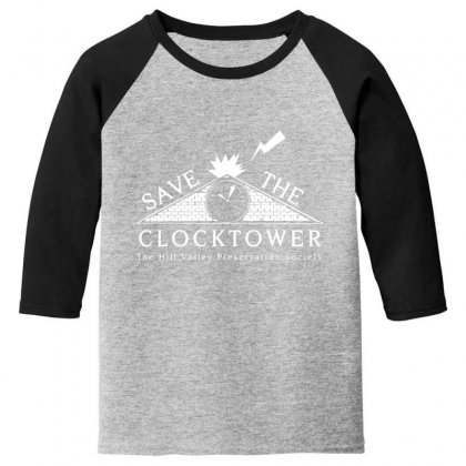 Save The Clock Tower Merch Youth 3/4 Sleeve Designed By Oktaviany