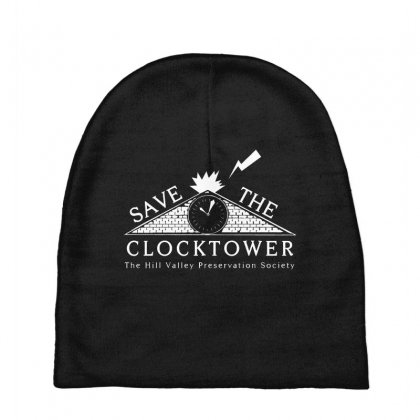 Save The Clock Tower Merch Baby Beanies Designed By Oktaviany
