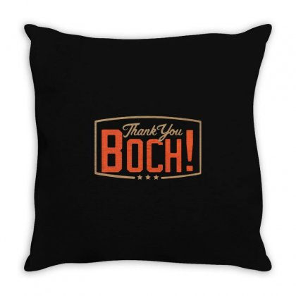Thank You Boch Logo Throw Pillow Designed By Oktaviany