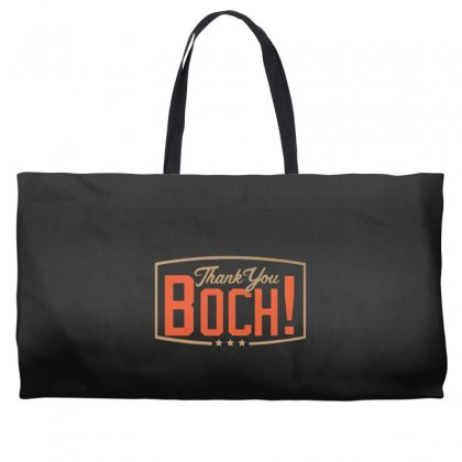 Thank You Boch Logo Weekender Totes Designed By Oktaviany