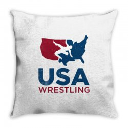 usa wrestling vintage Throw Pillow | Artistshot