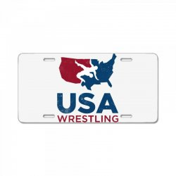 usa wrestling vintage License Plate | Artistshot