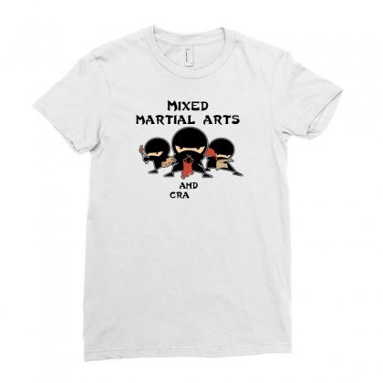 Mixed Martial Arts And Crafts New Ladies Fitted T-shirt Designed By B4en1