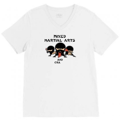 Mixed Martial Arts And Crafts New V-neck Tee Designed By B4en1