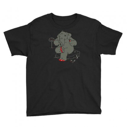 Cherry Red Youth Tee Designed By Achreart