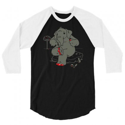 Cherry Red 3/4 Sleeve Shirt Designed By Achreart