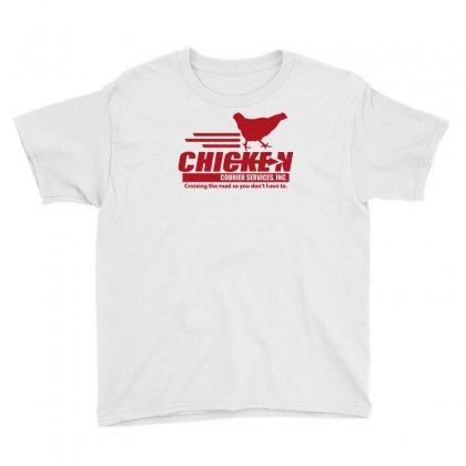 Chicken Courier Services Youth Tee Designed By Achreart