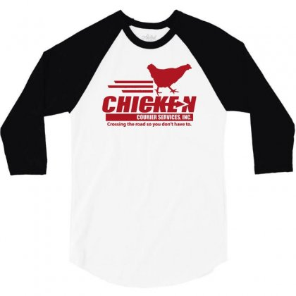 Chicken Courier Services 3/4 Sleeve Shirt Designed By Achreart