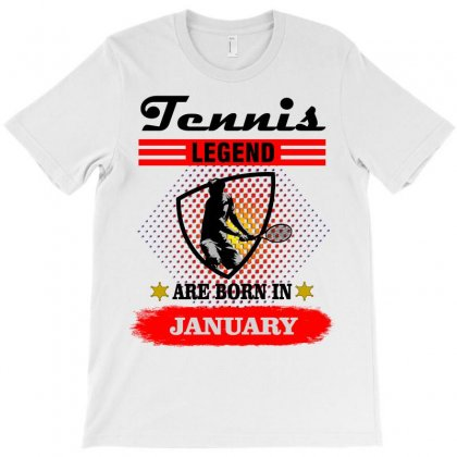 Tennis Legend Are Born In January T-shirt Designed By Shadowart