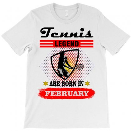 Tennis Legend Are Born In February T-shirt Designed By Shadowart