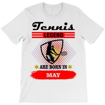 Tennis Legend Are Born In May T-shirt Designed By Shadowart