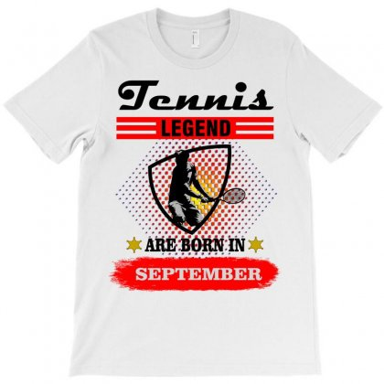Tennis Legend Are Born In September T-shirt Designed By Shadowart