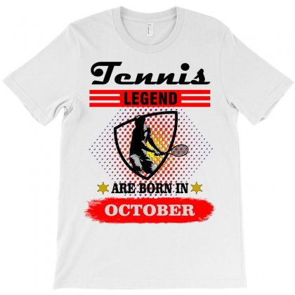 Tennis Legend Are Born In October T-shirt Designed By Shadowart