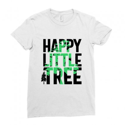 Happy Little Tree T-shirts Ladies Fitted T-shirt Designed By Cidolopez