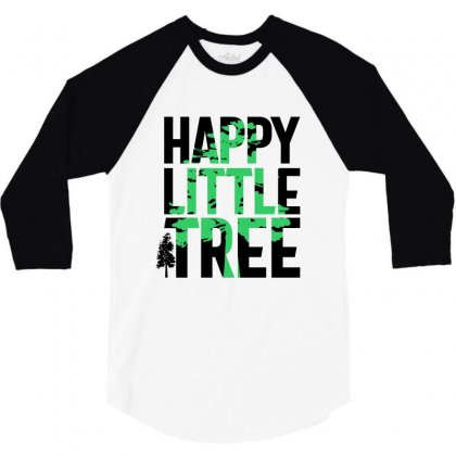 Happy Little Tree T-shirts 3/4 Sleeve Shirt Designed By Cidolopez