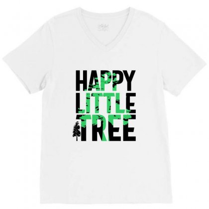 Happy Little Tree T-shirts V-neck Tee Designed By Cidolopez