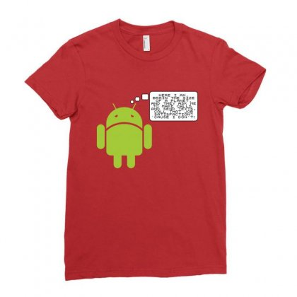 Android Paranoia Ladies Fitted T-shirt Designed By Platinumshop