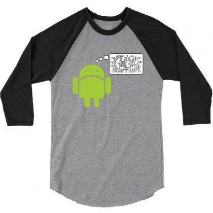 Android Paranoia 3/4 Sleeve Shirt Designed By Platinumshop