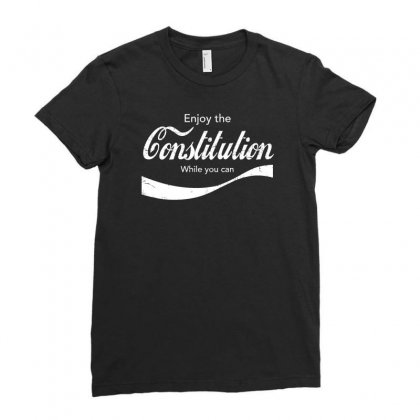 Constitution Cola Ladies Fitted T-shirt Designed By Achreart