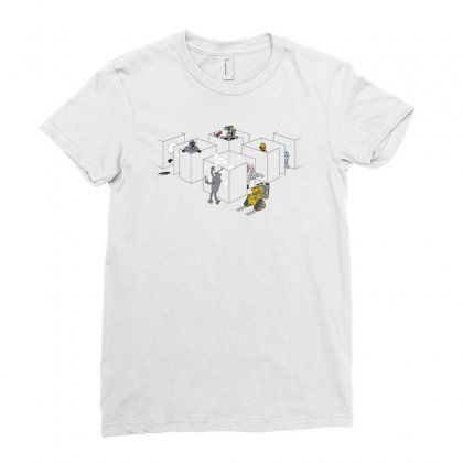 Corporate Robots Ladies Fitted T-shirt Designed By Achreart