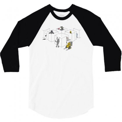 Corporate Robots 3/4 Sleeve Shirt Designed By Achreart
