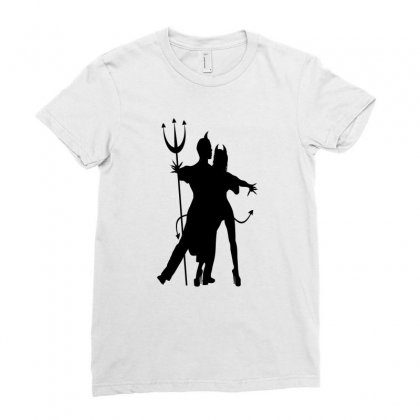 Dance With The Devil Ladies Fitted T-shirt Designed By Lisamona772