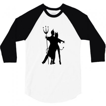 Dance With The Devil 3/4 Sleeve Shirt Designed By Lisamona772