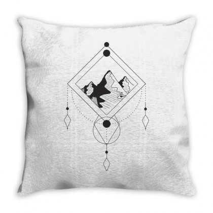 Mountains Throw Pillow Designed By Estore