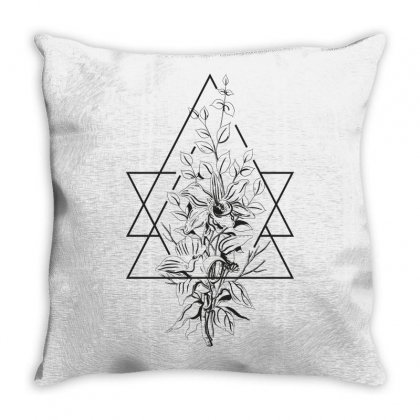 Flowers Throw Pillow Designed By Estore