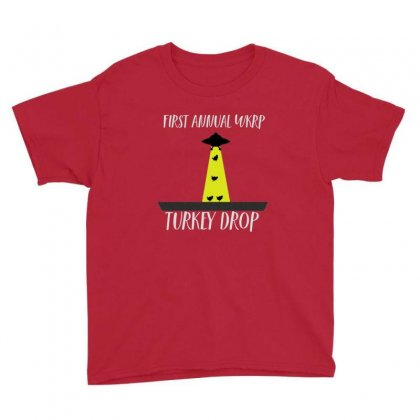 Thanksgiving Wkrp Turkey Drop Youth Tee Designed By Sr88