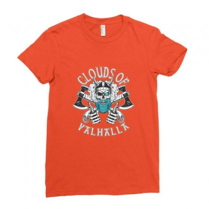 Clouds Of Valhalla Funny Vaper Ladies Fitted T-shirt Designed By Sr88
