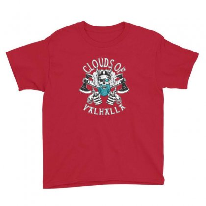 Clouds Of Valhalla Funny Vaper Youth Tee Designed By Sr88