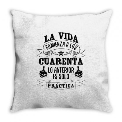 La Vida Comienza A Los Throw Pillow Designed By Estore